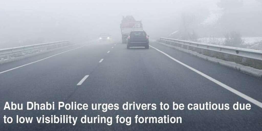 Motorists urged to exercise caution during foggy Abu Dhabi