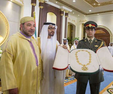 Morocco King honoured with Order of Zayed