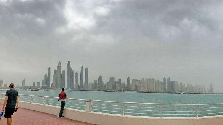 Video: Rain hits parts of UAE, warning of 7-ft-high waves issued