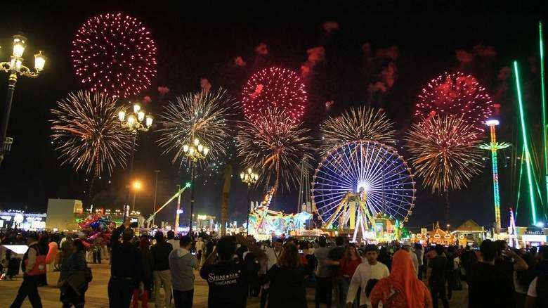Fireworks are heavily regulated in Dubai