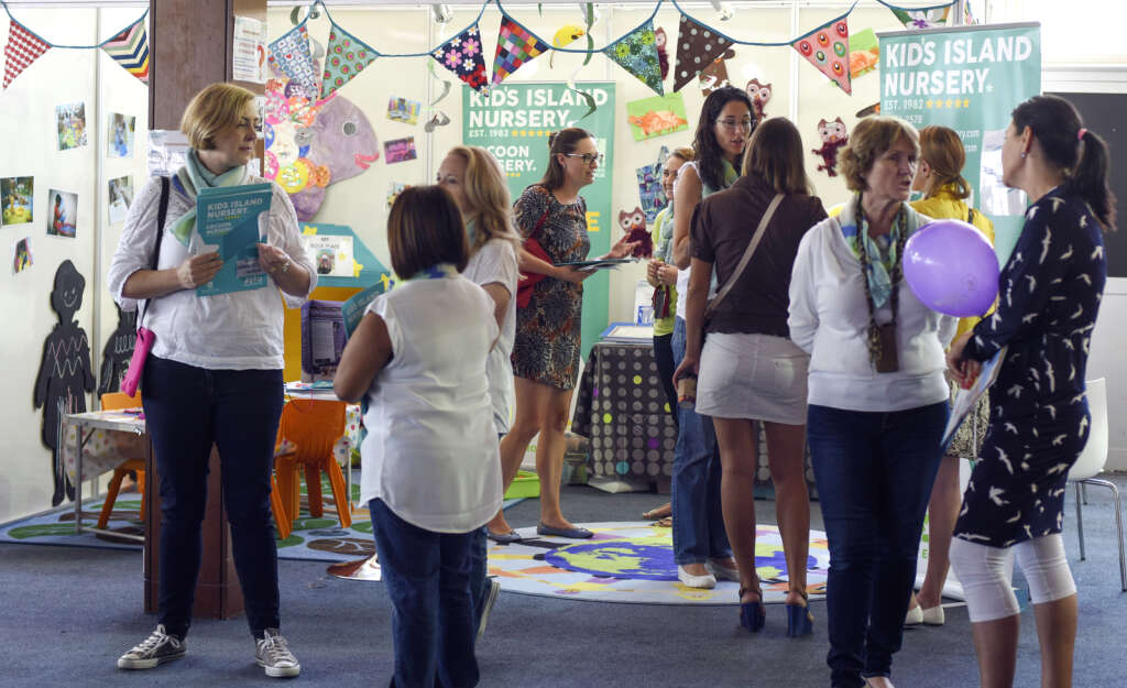 Parents interact with education providers during last year's The School & Nursery Show.