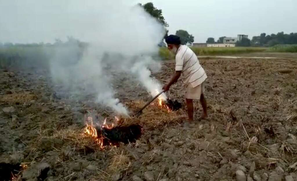 India, burning stubbles, fine, air pollution