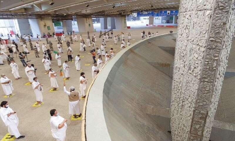 Muslim, pilgrims, santised pebbles, stoned, devil, last, major, ritual, Haj 2020, Saudi Arabia