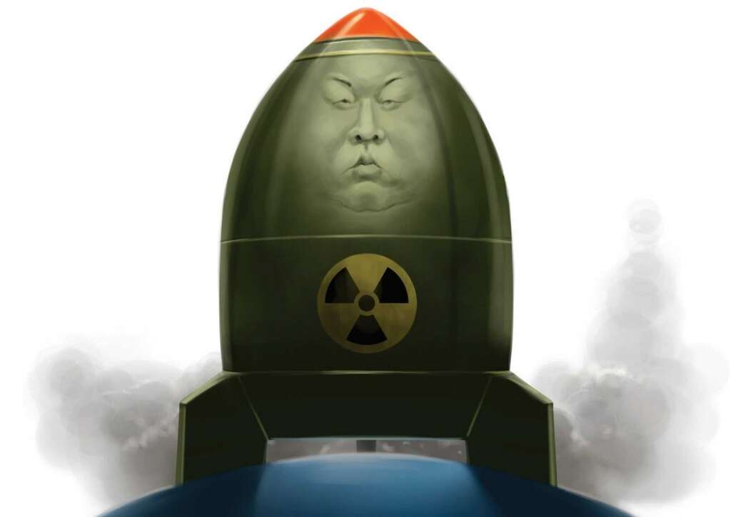 """The """"nuclear shadow"""" cast by countries with nuclear weapons provides them with greater leverage in dealing with the US and narrows America's menu of choice for exercising power.- KT illustration by Santhosh Kumar"""