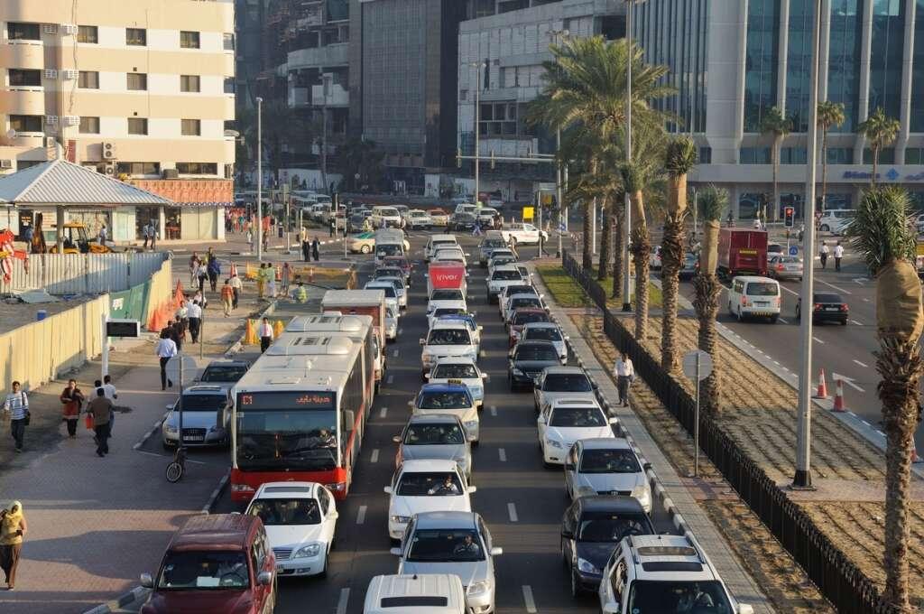 eavy congestion,  Dubai, Sharjah roads, traffic, dubai police, fine