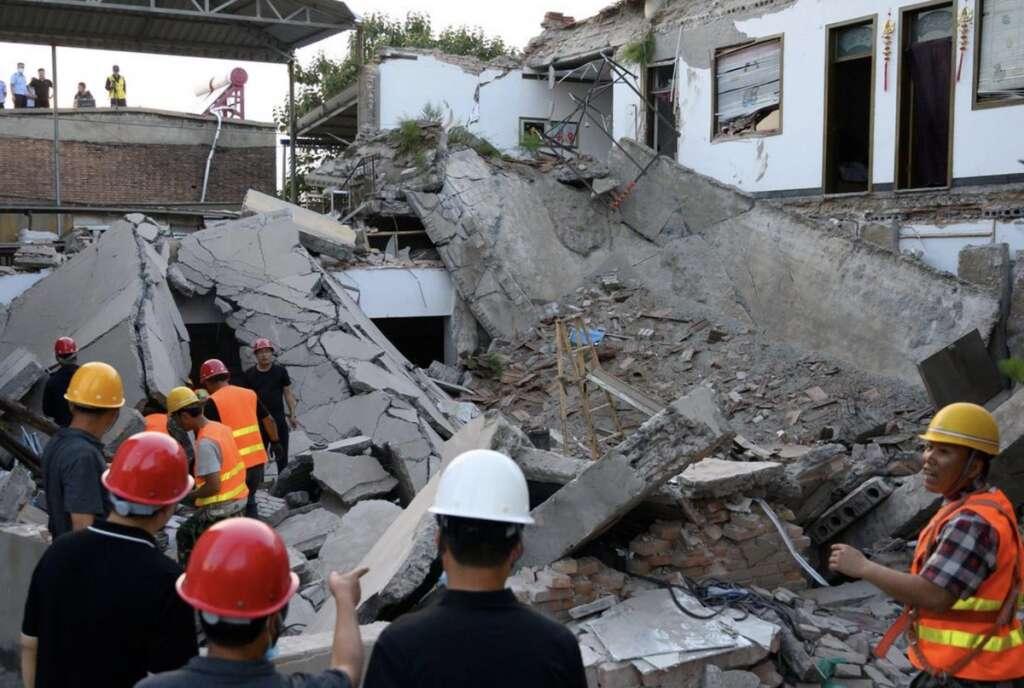 China, Shanxi, Restaurant collapse