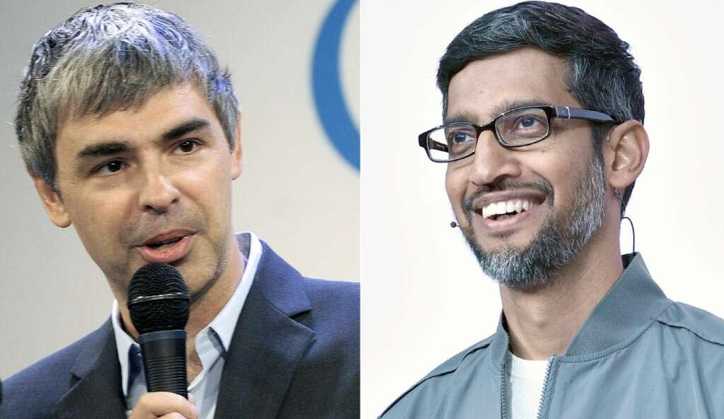 Larry Page, Sergey Brin, Google, Alphabet, Sundar Pichai