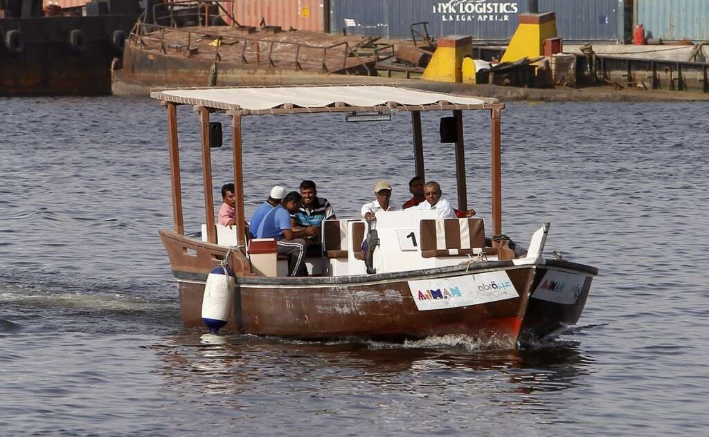 Now, get around in Ajman in an abra for Dh2