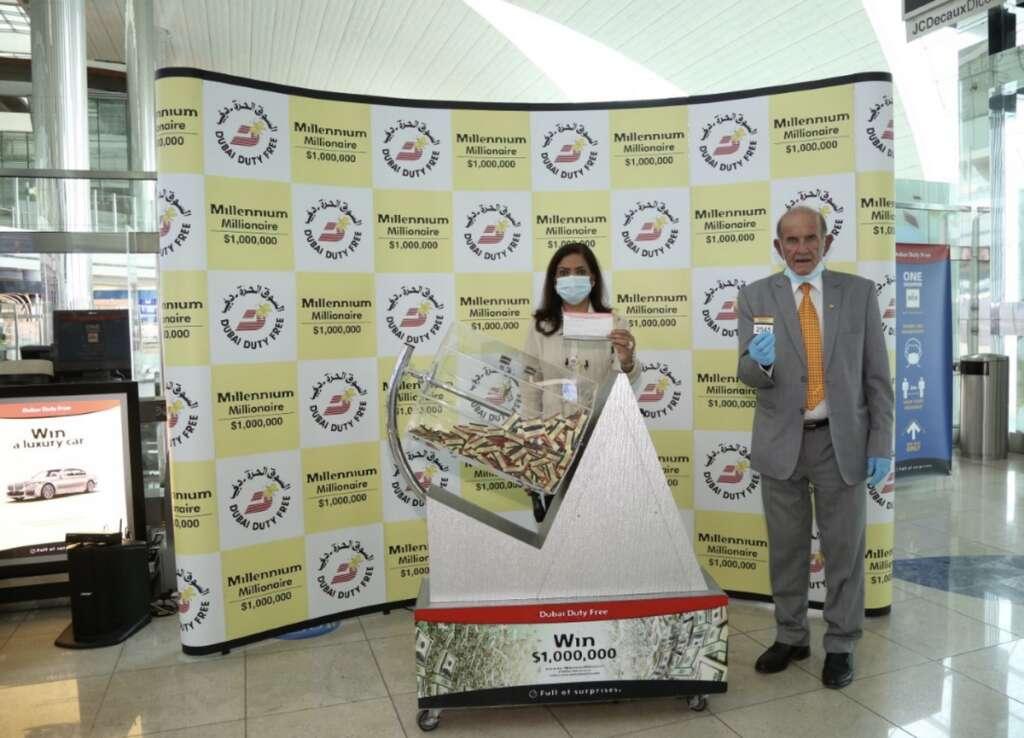 Airline captain, wins, $1 million, Dubai Duty Free, draw