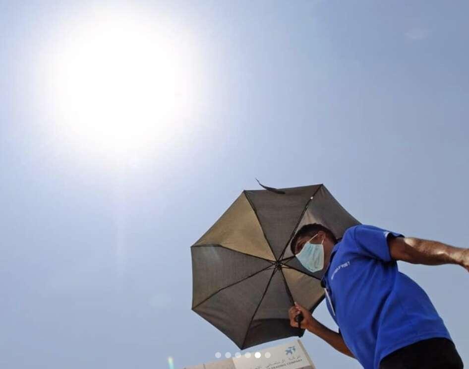 weather, mercury nears 50°C