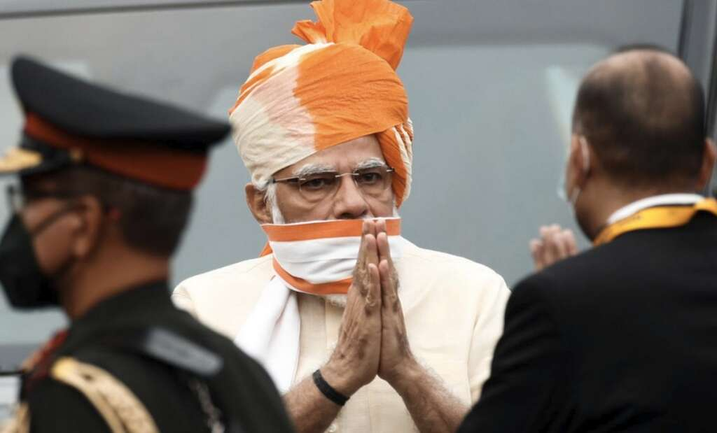 74th Independence Day, Indian PM unfurls tricolour