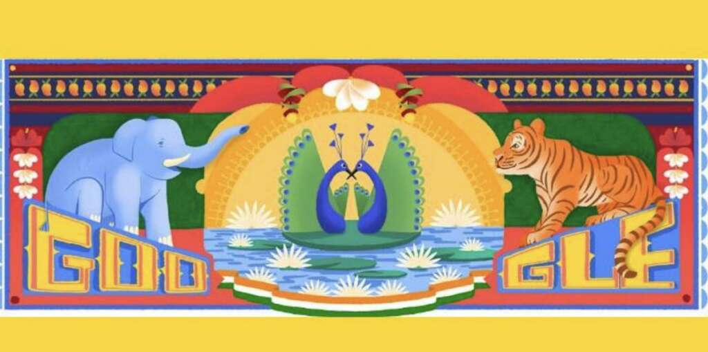Google celebrates India's Independence Day with 'truck art' doodle