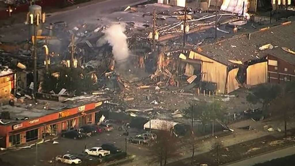 houston, explosion, huge explosion, building, america, us