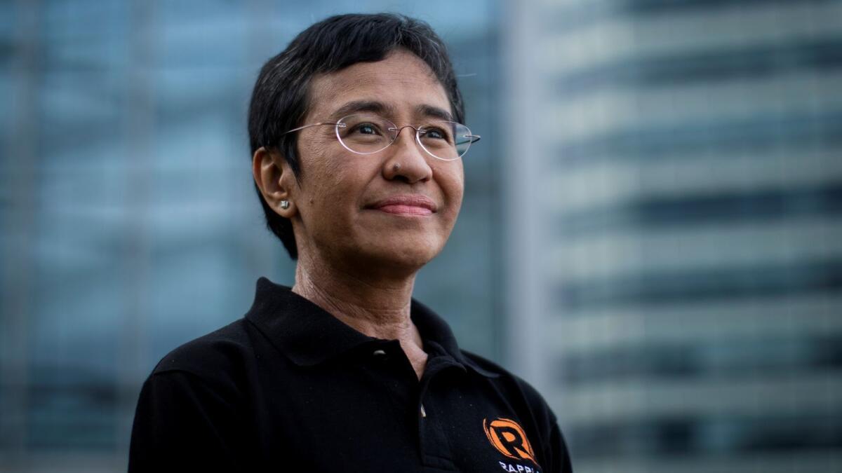 Philippines president congratulates journalist Ressa on Nobel Peace Prize: Spokesperson