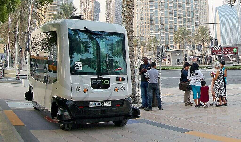 Driverless EZ10 takes to the road in Downtown Dubai