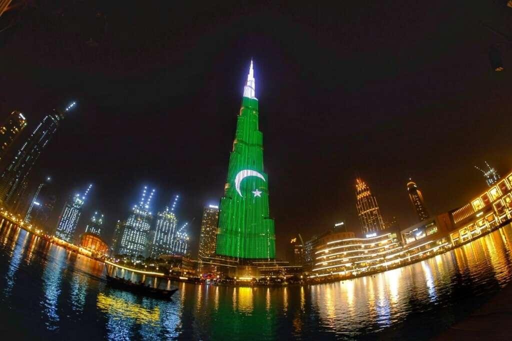 Dubai's Burj Khalifa lights up with Pakistan flag - News