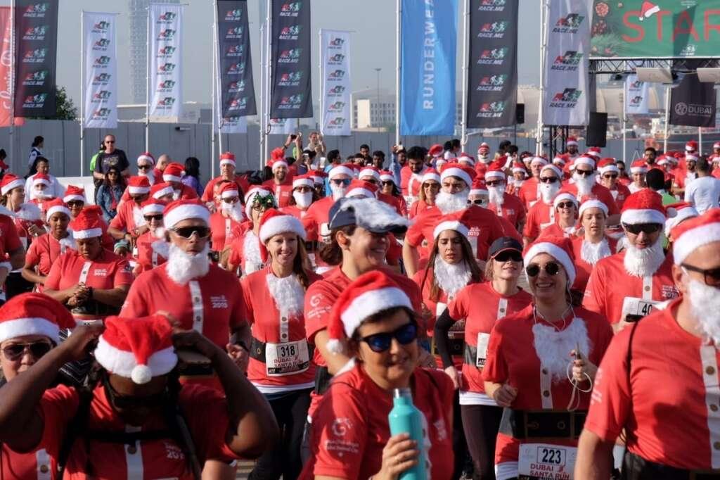 santa, run, christmas season, dubai, santa run