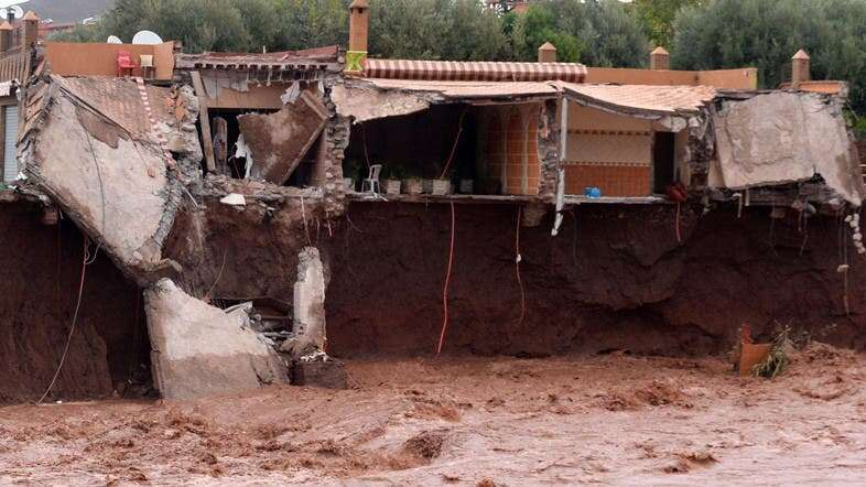 Morocco, Flood, football match