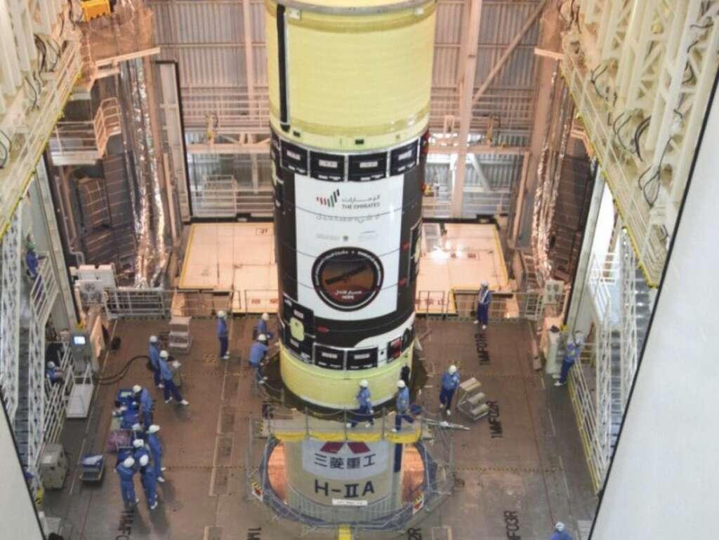 Dubai, ground station, control, Mars probe, after liftoff,