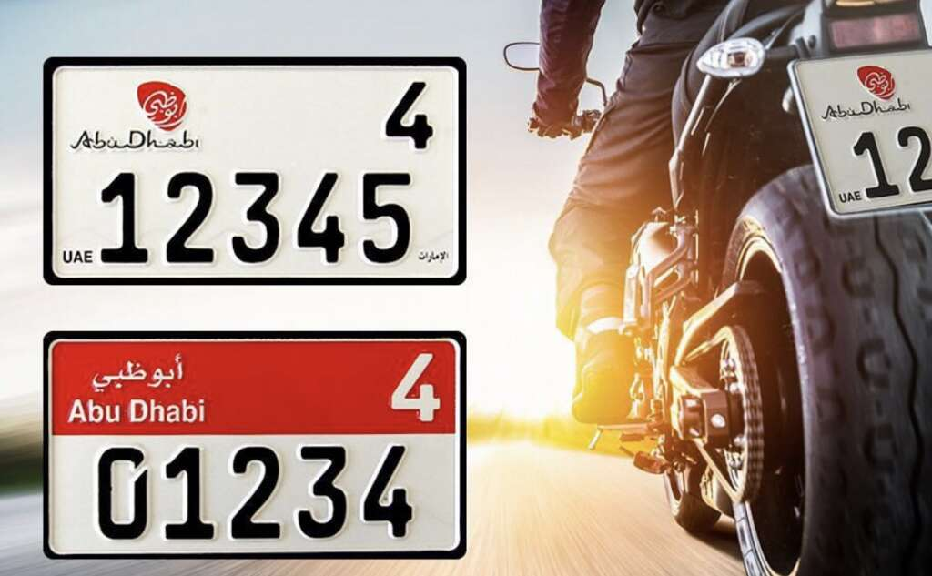 Abu Dhabi Introduces New Motorcycle Number Plates News