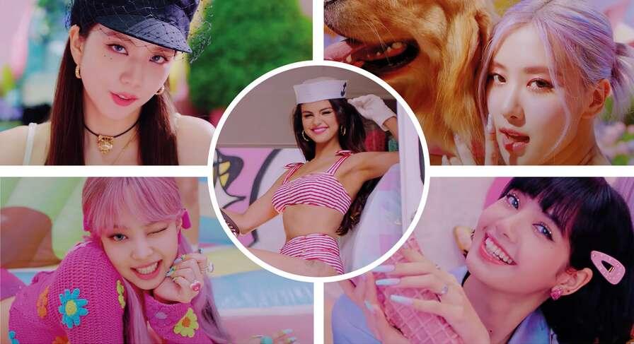 Blackpink, k-pop, Selena Gomez, Ice Cream, video, single, collaboration, music