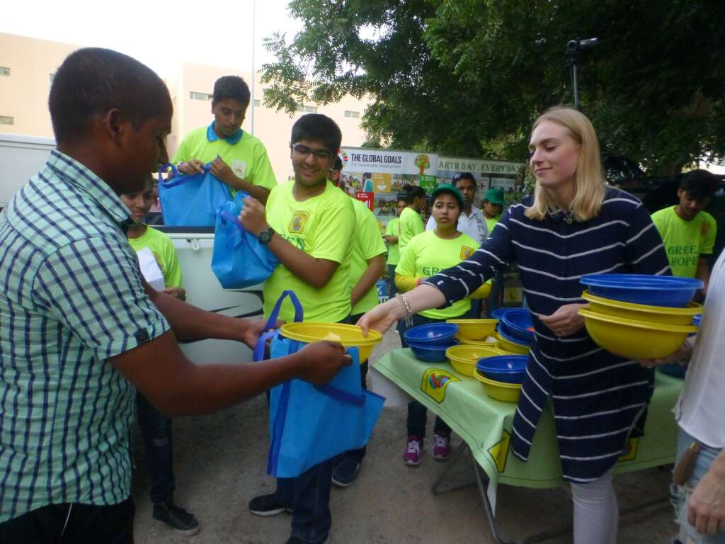 Bringing smiles on faces of workers away from home