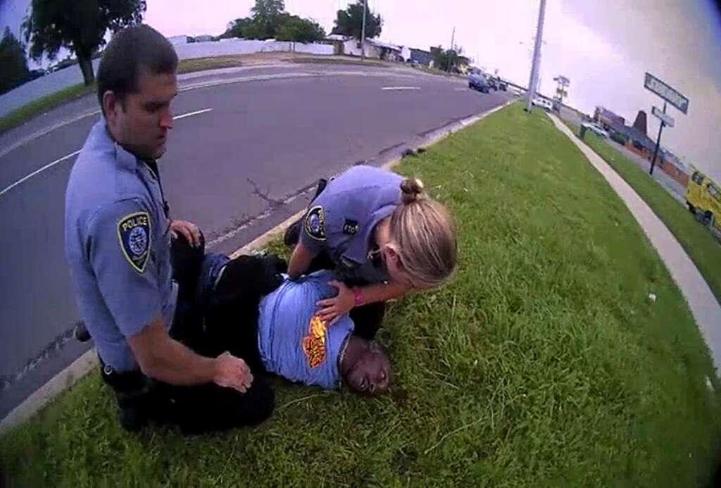 Police, Oklahoma, camera, footage, 2019, arrest, Derrick Scott, death, I can't breathe, George Floyd