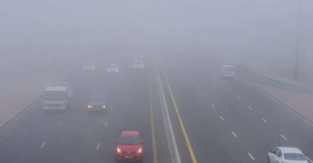UAE road accident, emirates road, foggy conditions, sharjah, umm al quwain