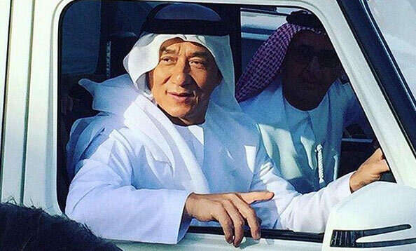 Jackie Chan in Dubai