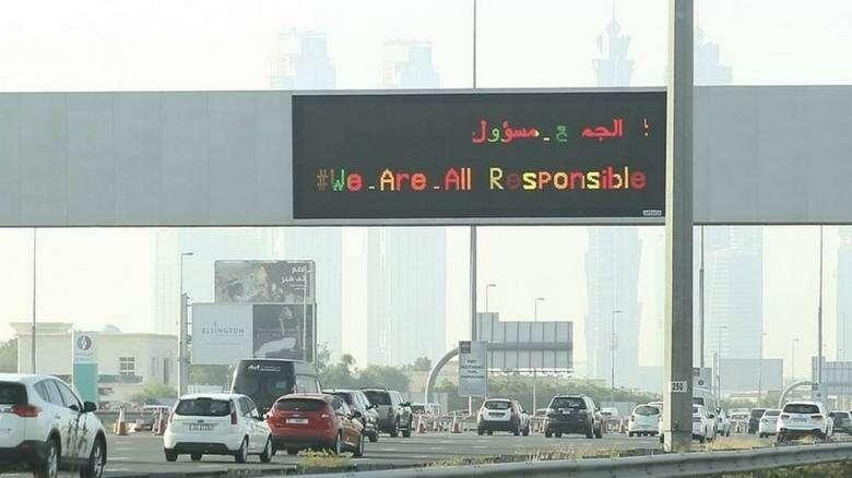 Morning rush hour, Dubai-Sharjah