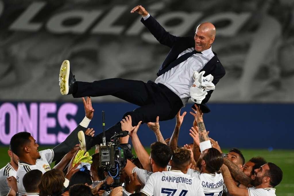 Real Madrid, manager, coach, Zinedine Zidane, ranks, La Liga, triumph, over, Champions League, glory