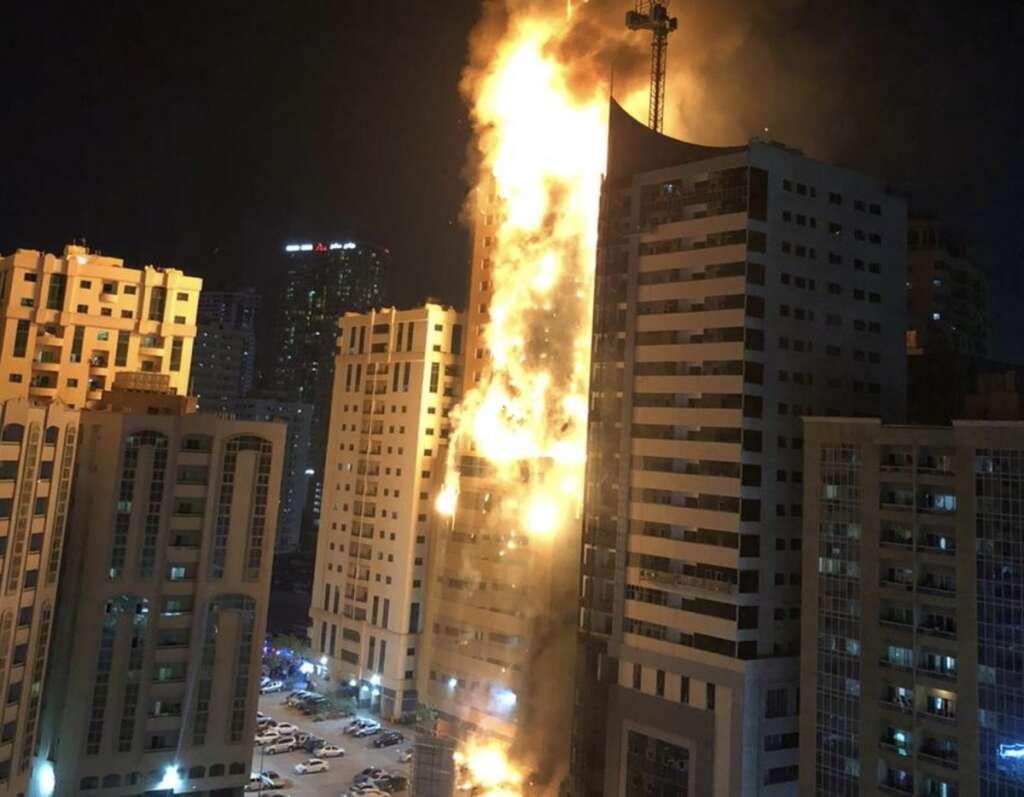 Fire, Sharjah, Al Nahda, huge fire,