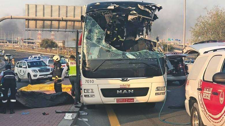 Dubai, Dubai bus crash, Oman, Accident, Dubai crash