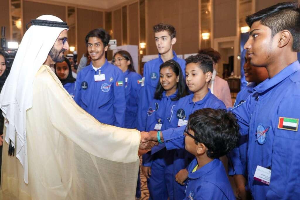 Photos: Sheikh Mohammed reveals historic Arab-made satellite's name