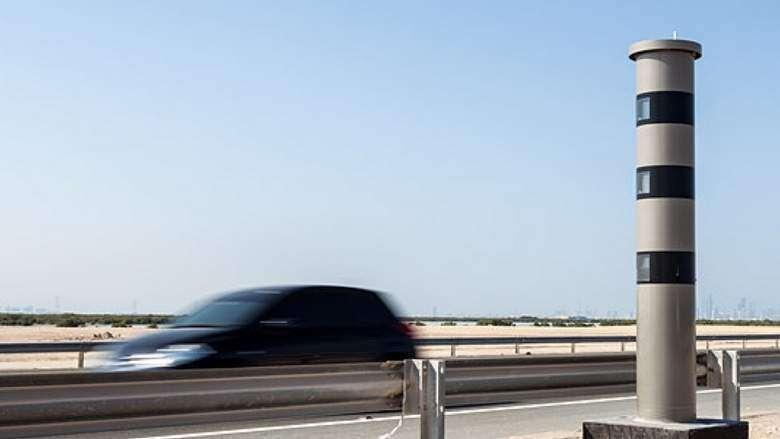 Car passing by dubai RTA traffic radar - Khaleej Times