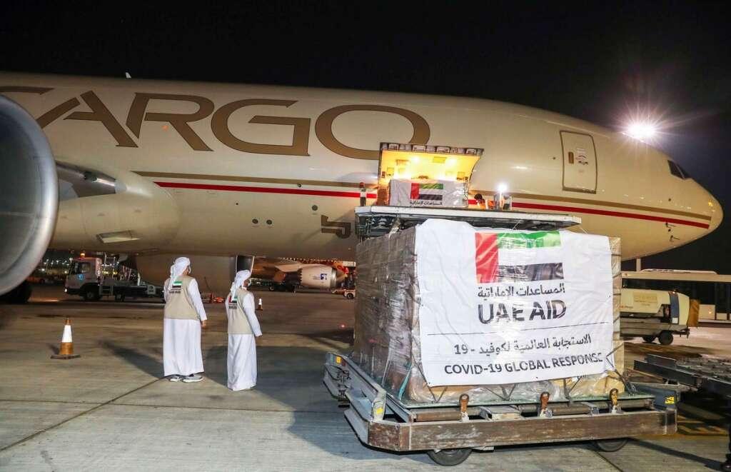 UAE, coronavirus, Covid-19, aid, plane, Turkmenistan