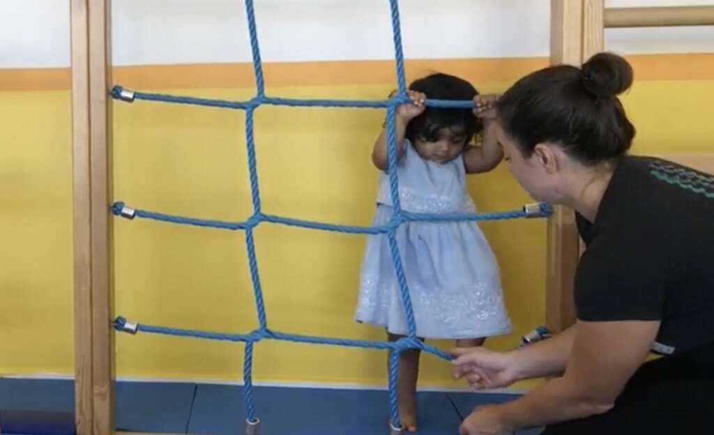 Toddlers learn to jump, climb, roll during Dubai Fitness Challenge