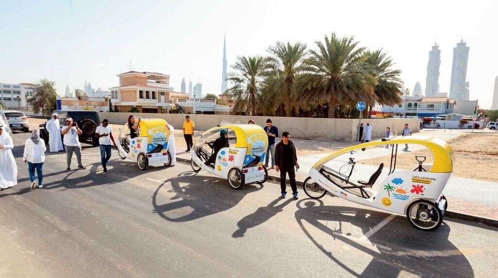 Smart Bikes which were unveiled at last month's Happiness Journey — the first in the UAE — which saw a parade over two kilometres, from Dubai Water Canal to BoxPark and back.