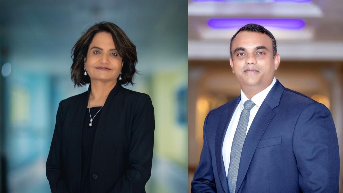 Poonam Bhojani, CEO, Innoventures Education (L) and Jacob Chacko, Regional Director — Middle East, Saudi and South Africa at HPE Aruba (R)