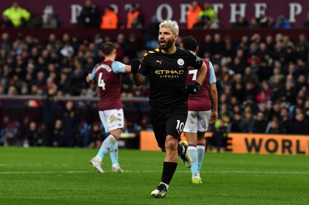 City thrash Villa with Agueros record-breaking hat trick