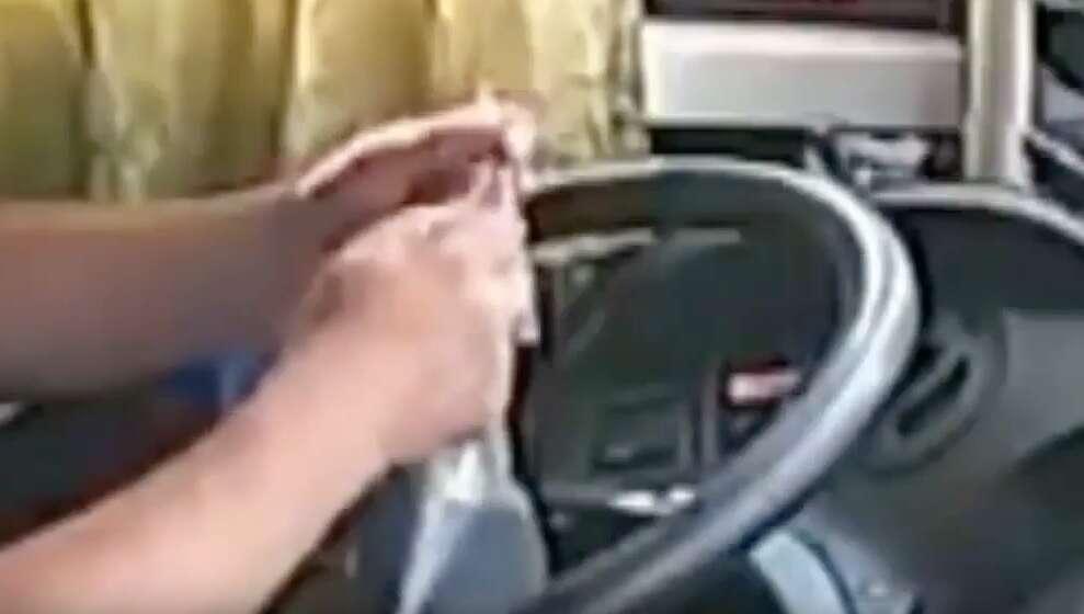 Video: Speeding bus crashes into car, truck as driver