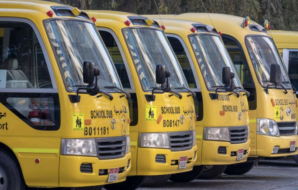 School bus drivers, supervisors, Abu Dhabi, Covid-19 test, every two weeks,
