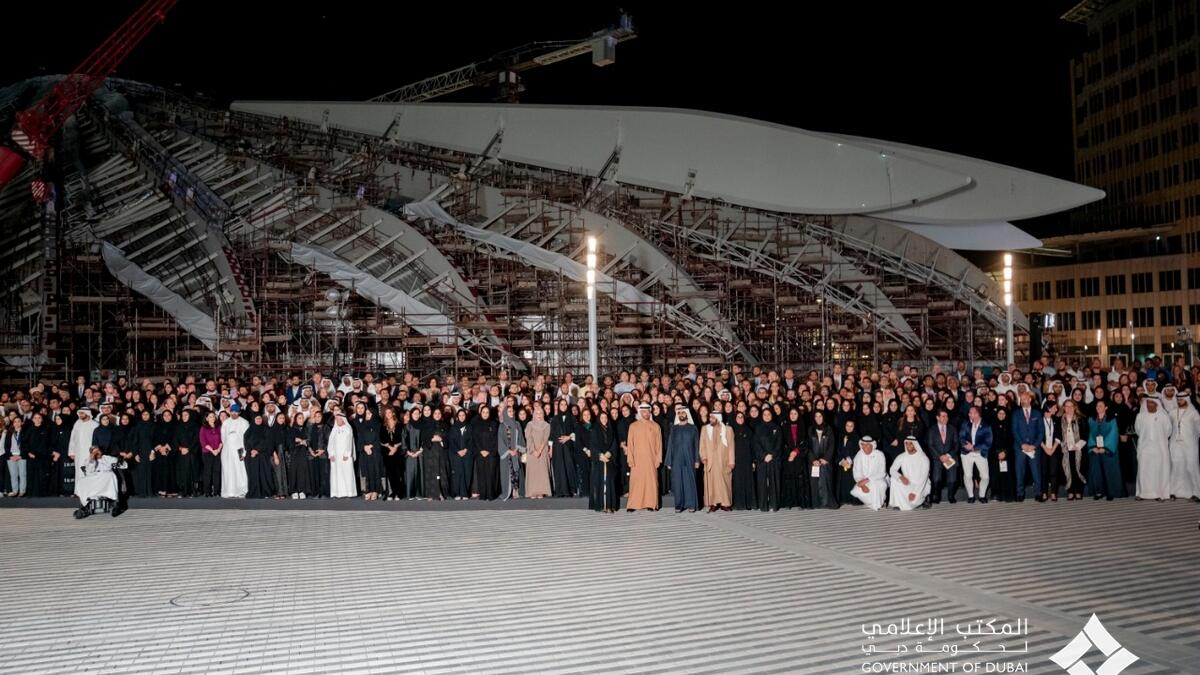 Royals and citizens at the Expo 2020 site in Dubai.