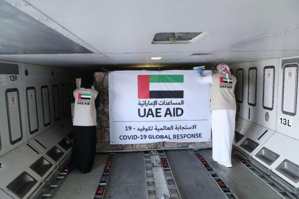 Combating coronavirus, UAE delivers, urgent, medical supplies, Palestine