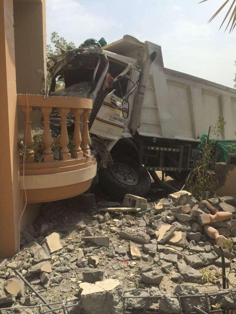 Sleep-deprived  trucker crashes  into RAK villa