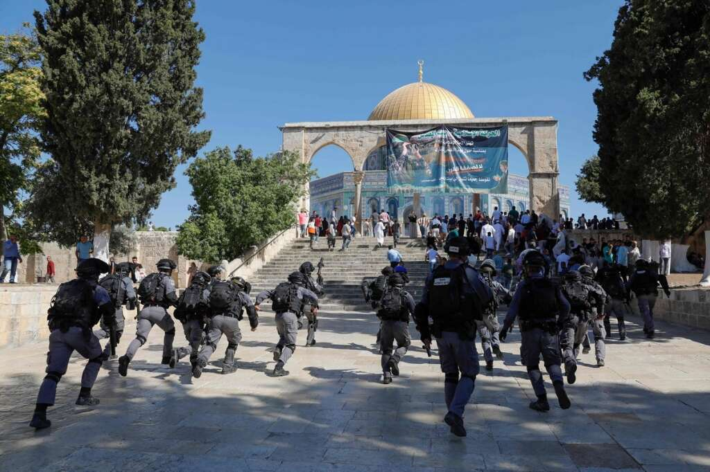 Israel police, Palestinian worshippers clash at Al Aqsa