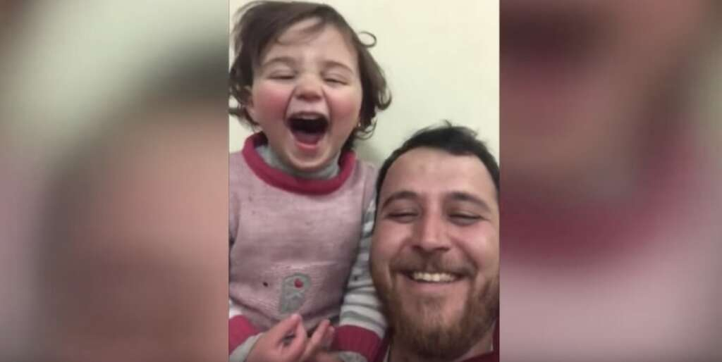 syria, father, daughter, shelling, video, idlib