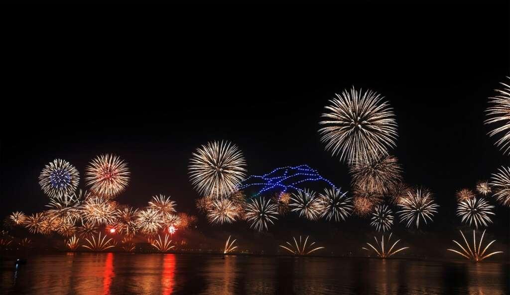 Ras Al Khaimah, New Year fireworks, Decembe 31, 2019, January 1, 2020