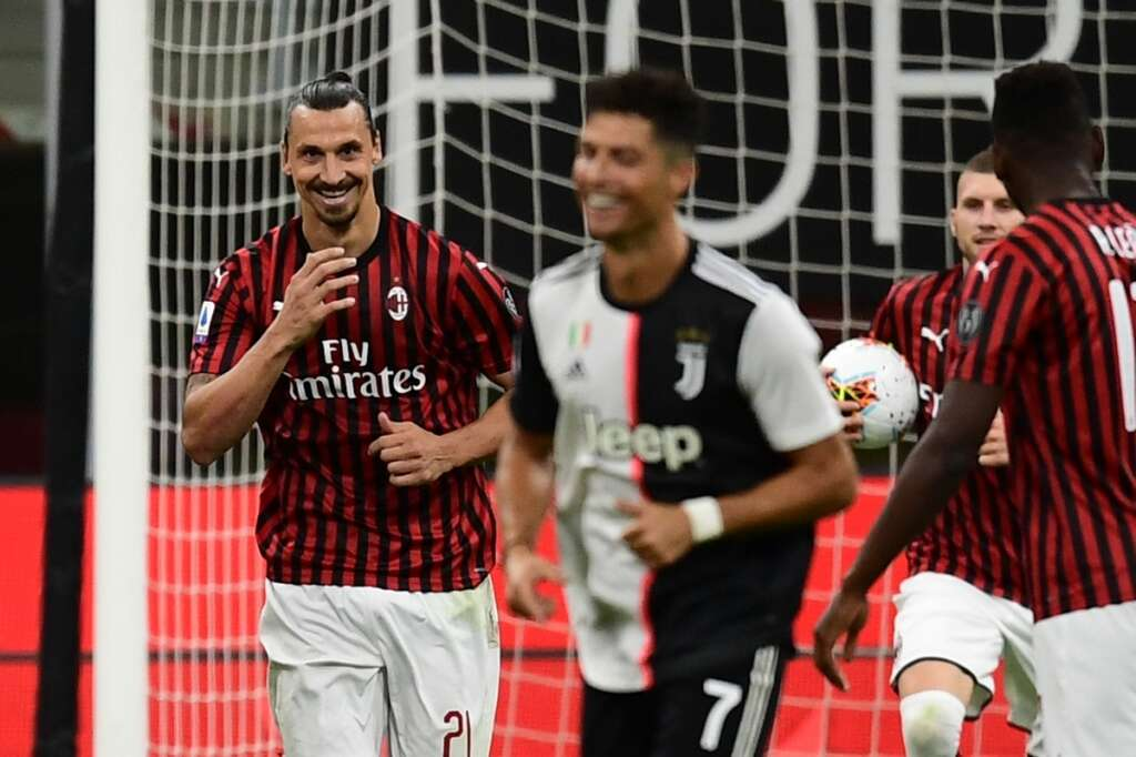 Juventus, Serie A, A C Milan, 4-2, San Siro, Zlatan Ibrahimovic, Cristiano Ronaldo