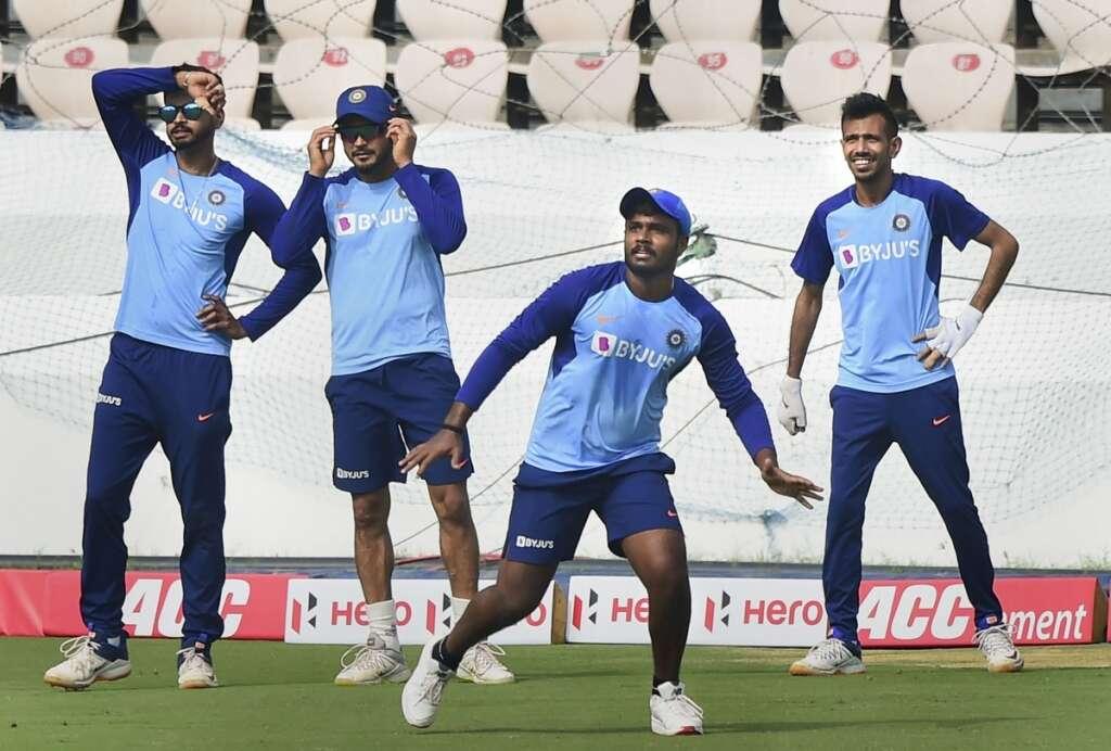 टी-20 सीरीज के लिए अभ्यास करते भारतीय टीम के खिलाड़ी | Getty